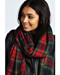 Boohoo alana tartan plaid check scarf medium 30661