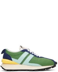 Lanvin Green Blue Mesh Bumpr Sneakers
