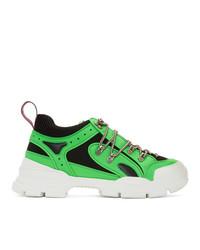 Gucci Green Flashtrek Sneakers