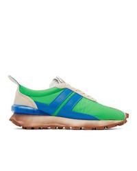 Lanvin Green Nylon Bumpr Sneakers
