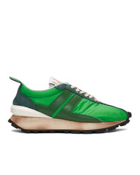 Lanvin Green Running Sneakers