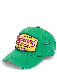 91f9add9d30c Men s Green Baseball Caps by DSquared   Men s Fashion   Lookastic.com