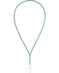 Diane Kordas 18 Karat Gold Diamond And Malachite Necklace