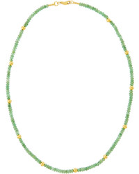 Gleam rain 24k beaded emerald necklace medium 836520