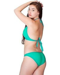 American Apparel Rnt12dl Nylon Tricot Flat Bikini Bottom