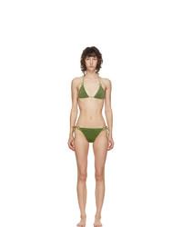 Oseree Green Lurex Micro Ring Bikini