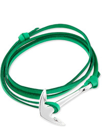 Miansai Anchor Leather Bracelet Kelly Green