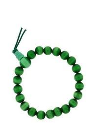 Bling Jewelry Shamballa Inspired Bracelet Green Cats Eye Mala Prayer Bead