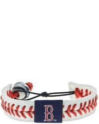 Wear Boston Red Sox Leather Baseball Bracelet