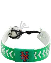 Gamewear New York Mets Leather Baseball Bracelet