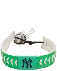 Gamewear New York Yankees Leather Baseball Bracelet
