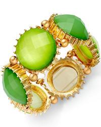 Style&co. Gold Tone Green Stone Prong Bracelet
