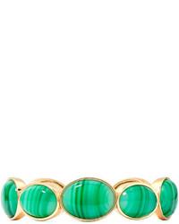 Liz Claiborne Green Stone Gold Tone Stretch Bracelet