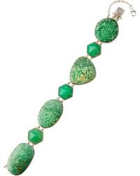 Stephen Dweck Green Turquoise Chrysoprase Station Bracelet