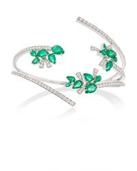 Hueb Mirage 18k White Gold Diamond And Pearl Bracelet
