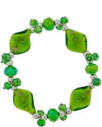 jcpenney Bridge Jewelry Dazzling Designs Green Artisan Glass Stretch Bracelet