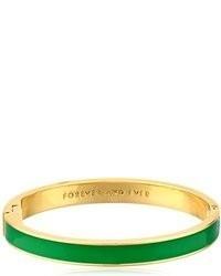 Kate Spade New York Idiom Bangles Forever And Ever Hinged Metropolis Green Bangle Bracelet