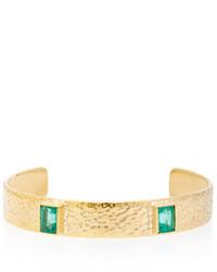 Octavia Elizabeth 18k Gold Emerald Bracelet
