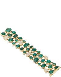 Pamela Huizenga Emerald And Diamond Bracelet