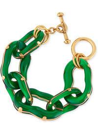 Oscar de la Renta Resin Link Bracelet Green