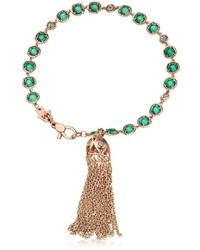 Rose gold tassel bracelet w peridot medium 4267759