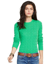 Women's Green Cable Sweaters by Polo Ralph Lauren | Women's Fashion
