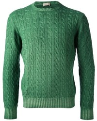 Green Cable Sweater