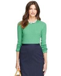 Brooks brothers cashmere cable crewneck sweater medium 97847