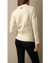 fdc0a9062147 sale retailer 6a257 0f285 burberry gold cable knit cardigan sweater ...