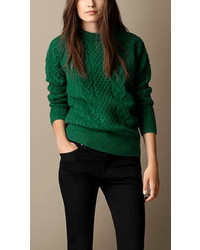 Green Cable Sweaters For Women Womens Fashion