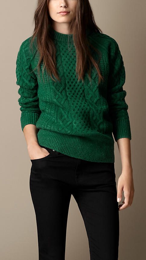 Burberry Wool Blend Cable Knit Sweater | Where to buy & how to wear