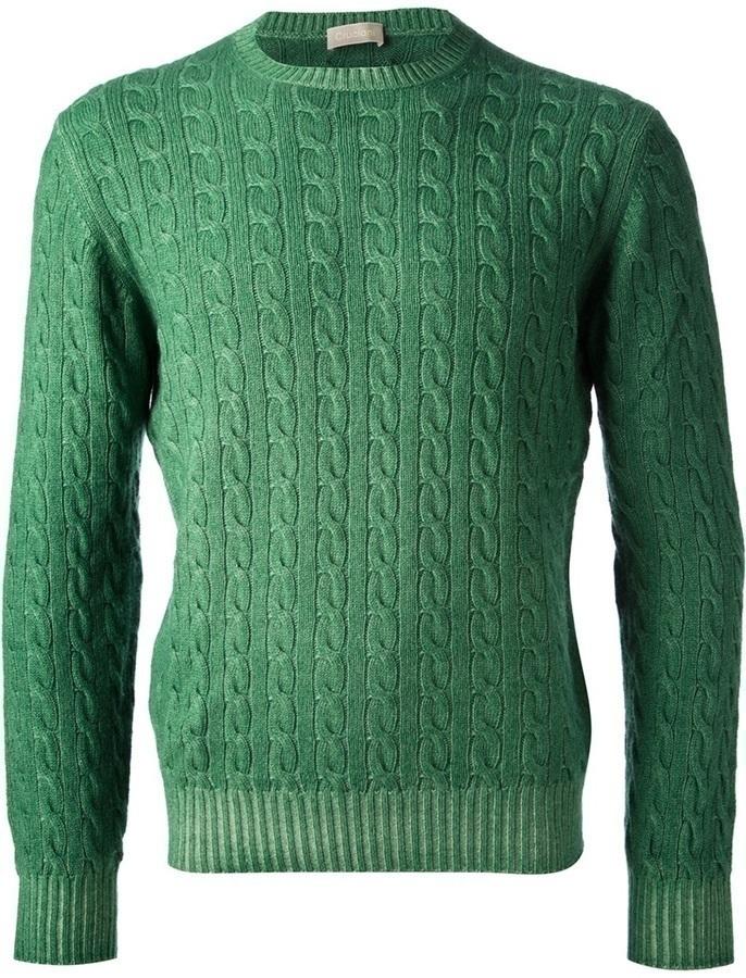 Cruciani Cable Knit Sweater