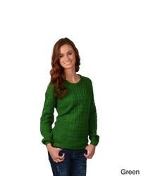 Journee Collection Round Neck Cable Knit Sweater