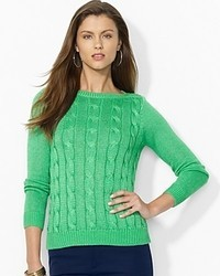 Ralph Lauren Lauren Cable Knit Cotton Sweater