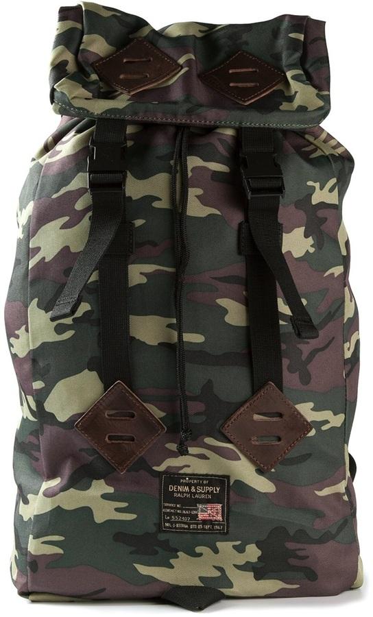 ... Denim   Supply Ralph Lauren Ralph Lauren Denim Supply Camouflage  Backpack c2099030f6acf