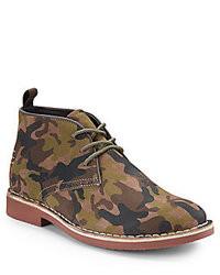 Green Camouflage Desert Boots