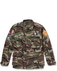 Saint Laurent Camouflage Print Cotton Field Jacket