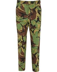 Toga Camouflage Print High Rise Slim Leg Jeans