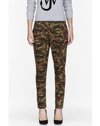 R 13 R13 Khaki Camouflage X Over Jeans