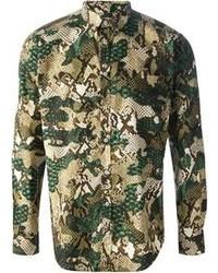 Green Camouflage Long Sleeve Shirt