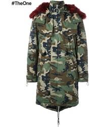 Off white camouflage parka medium 876828