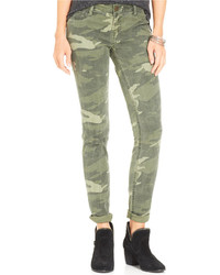 Rewash juniors camouflage print skinny jeans medium 125957