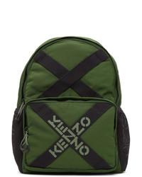 Kenzo Green Taped Sport Logo Backpack