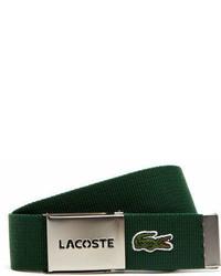 Lacoste L1212 Textile Signature Croc Logo Belt