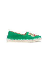Green Canvas Espadrilles