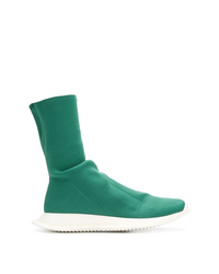 Green Canvas High Top Sneakers