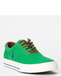 Green Canvas Low Top Sneakers