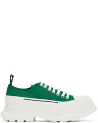 Alexander McQueen Green Tread Slick Low Sneakers