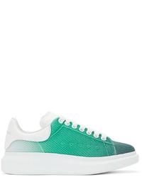 Alexander McQueen Green White Degrad Oversized Sneakers