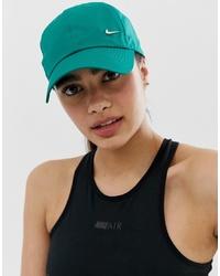 Nike Green Metallic Swoosh Logo Cap